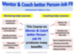 Mentor & Coach Better Person-Job Fit
