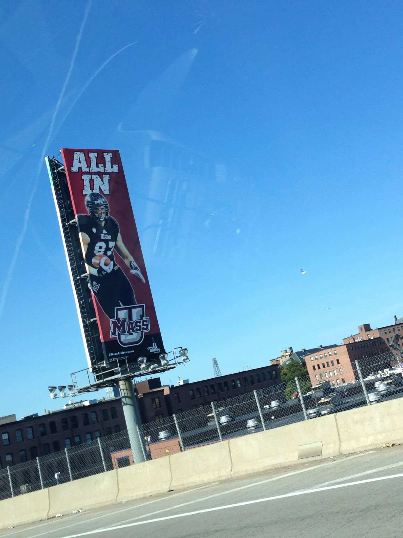 UMass Football Billboard