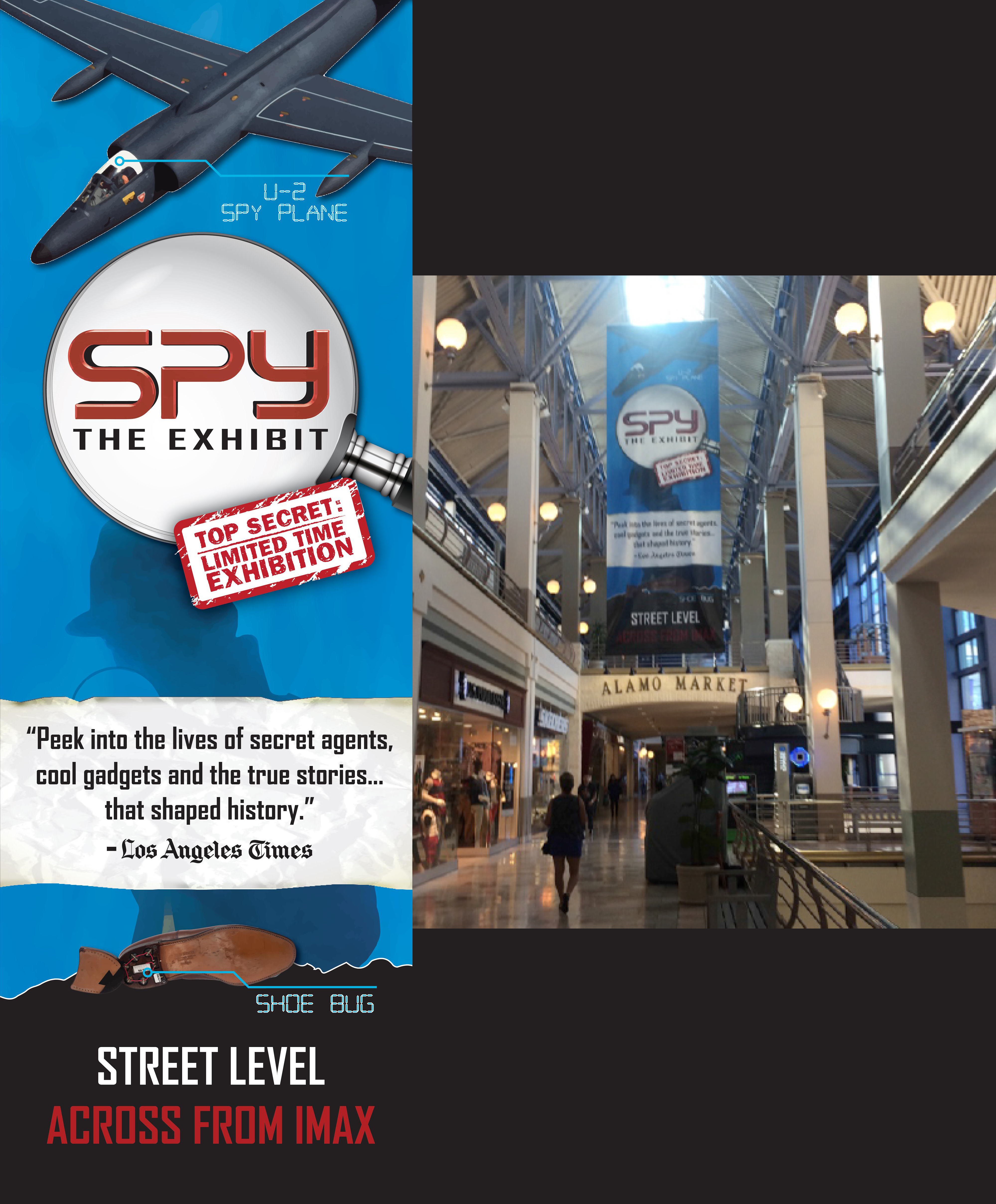 SPY: The Exhibit Sky Mural