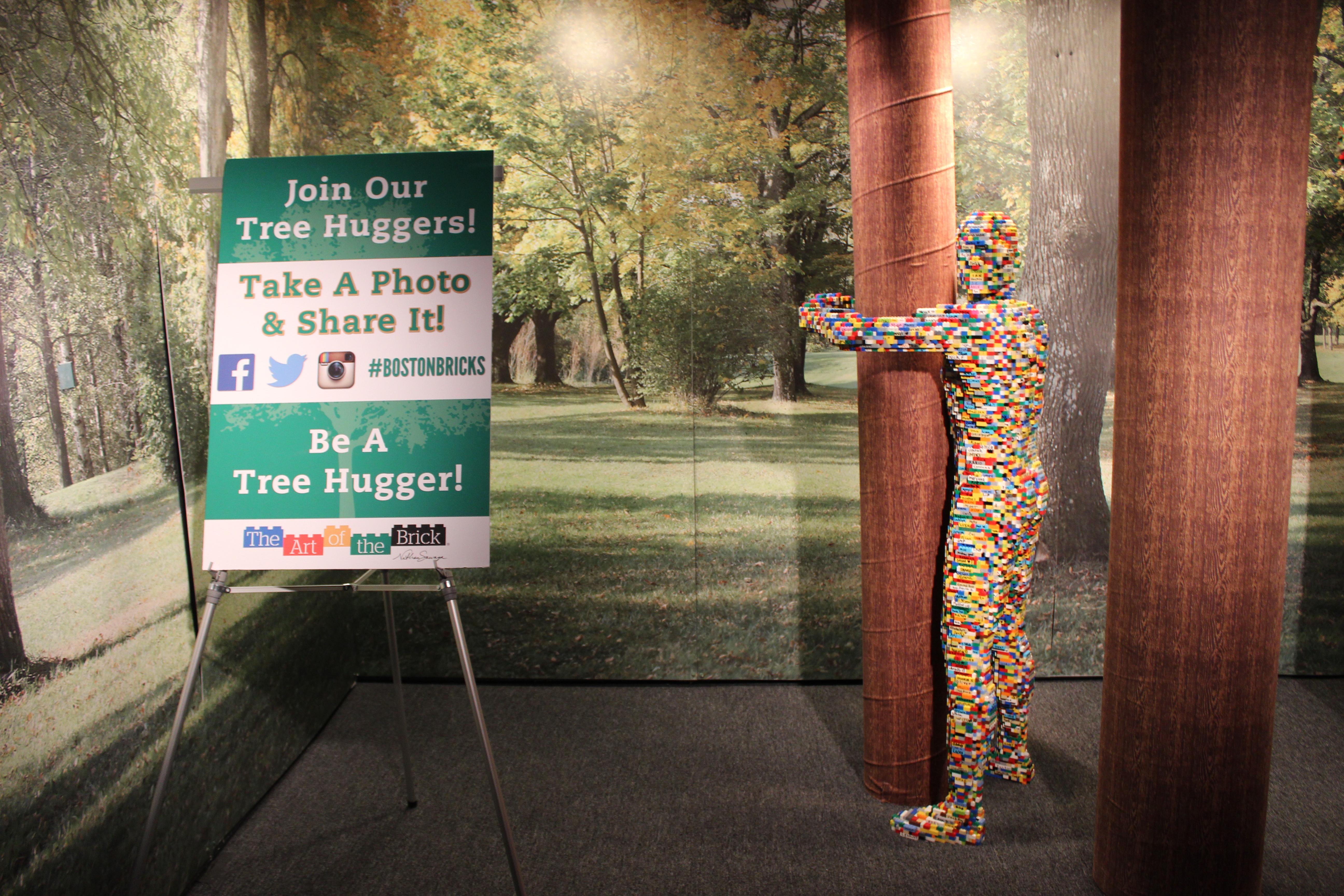 "The Art of the Brick ""Tree Hugger"""