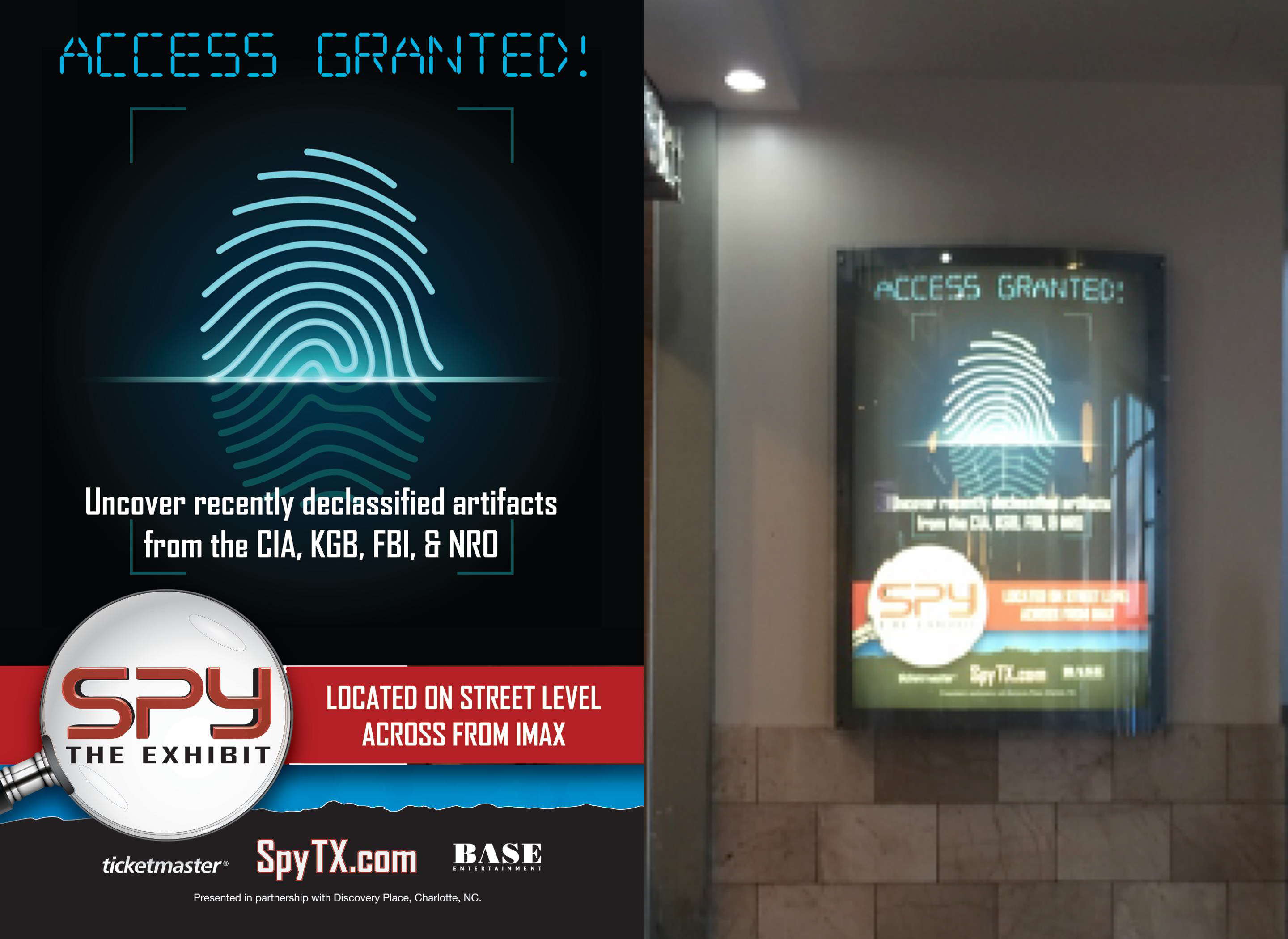 SPY: The Exhibit Backlit Display