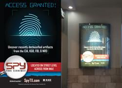 SPY: The Exhibit Backlit Display