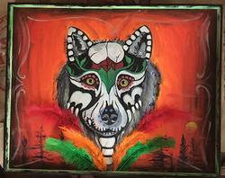Wolf Sugar Skull