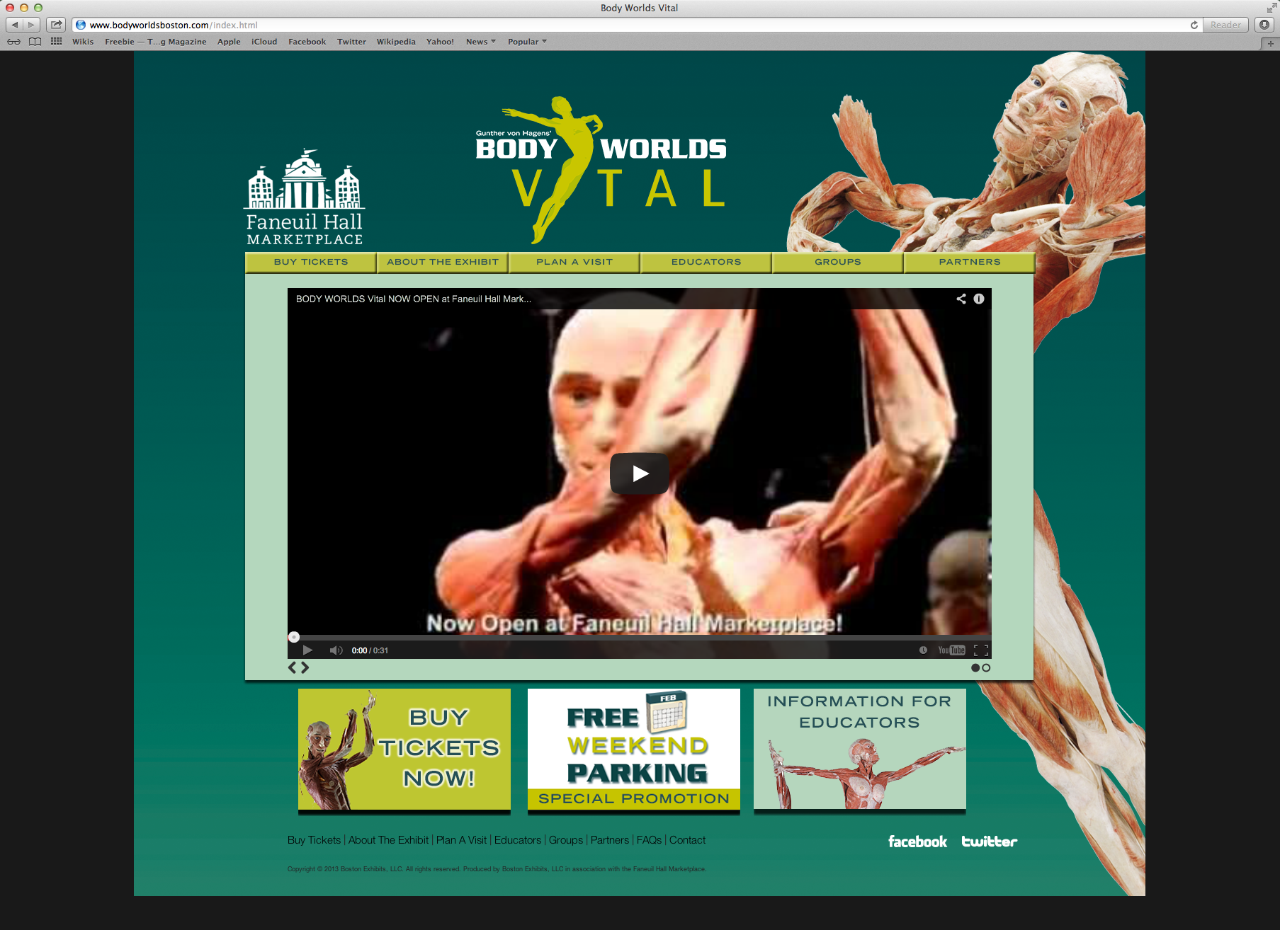 Body Worlds Vital Website