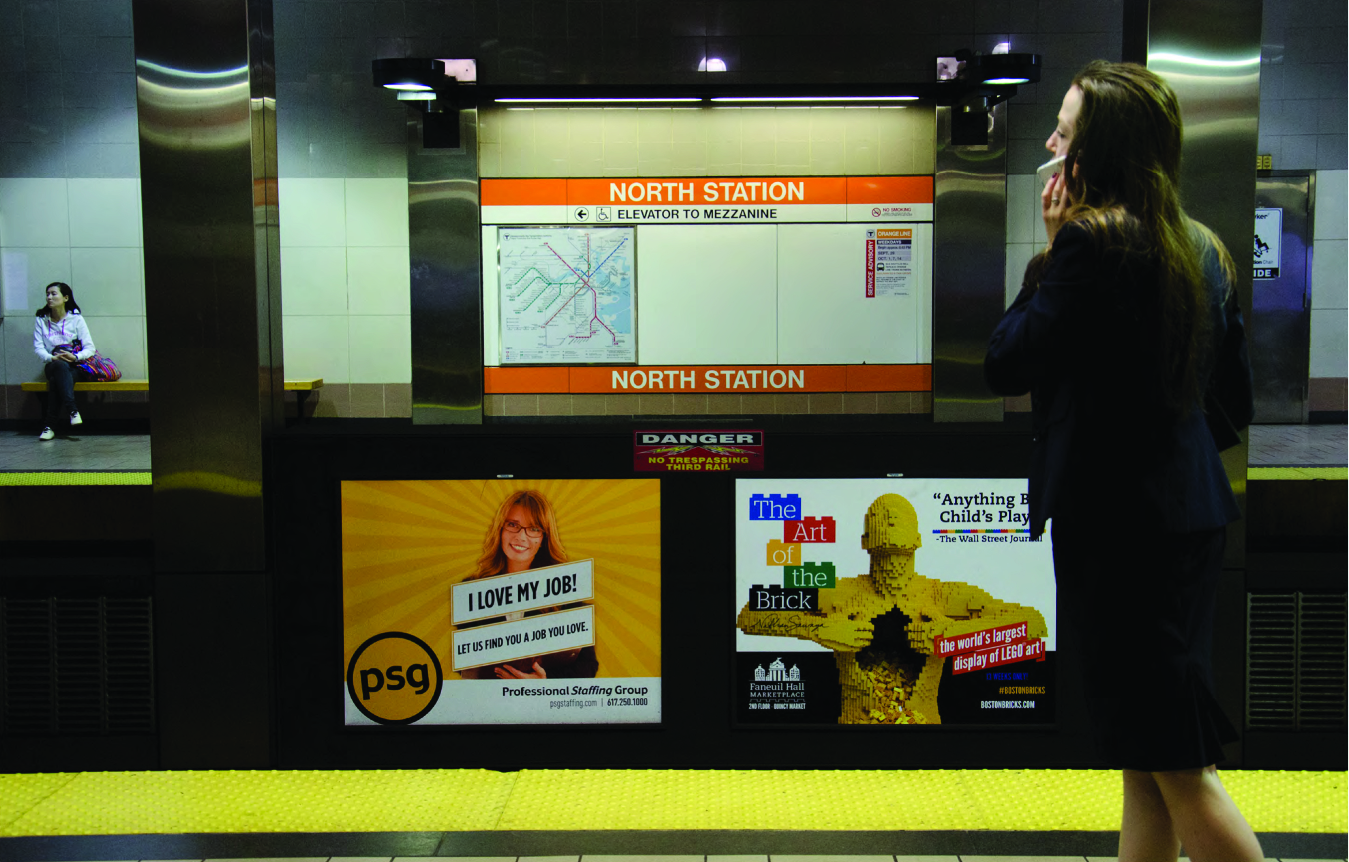 The Art of the Brick Transit Ad