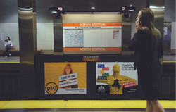 The Art of the Brick Transit Ad
