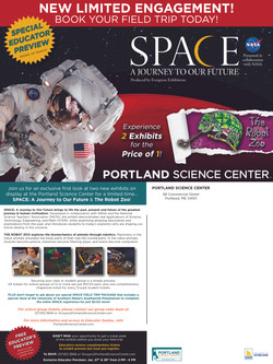 SPACE & Zoo Educator Postcard