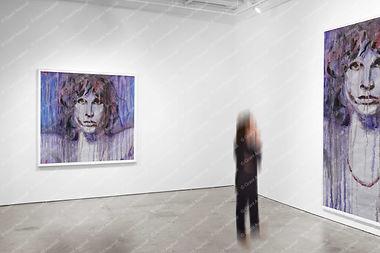 Jim Morrison on Gallery Wall