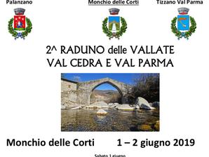1 e 2 giugno raduno della Val Cedra e della Val Parma a Monchio delle Corti