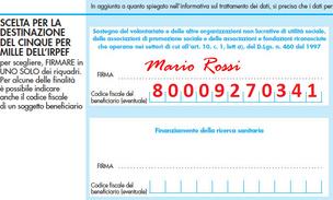 Dona il 5 per Mille alla Sezione ANA di Parma
