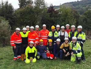 Esercitazione dei Volontari del 2° Raggruppamento nel Bergamasco