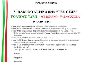 Terzo Raduno delle TRE CIME a Fornovo Taro