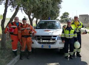 La nostra Protezione Civile in Puglia
