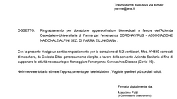 L'Azienda Ospedaliera ringrazia gli Alpini