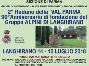 Raduno della Val Parma il 14-15 luglio a Langhirano