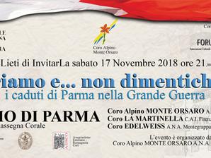 Onoriamo i Caduti di Parma nella Grande Guerra