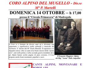 Un coro in memoria del Sergente Maggiore Tullio Ampollini