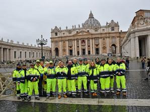 Volontari di Protezione civile in udienza da Papa Francesco