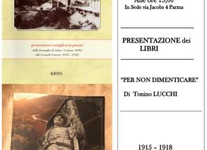 Presentazione di letture sulla Grande Guerra