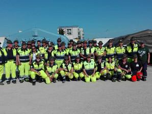 Esercitazione della Protezione Civile A.N.A. del 2° Raggruppamento  a Castel San Pietro Terme (BO)