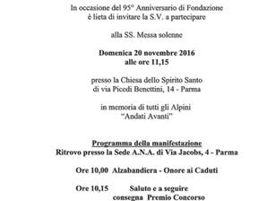 Messa Solenne per il 95° di Fondazione della nostra Sezione