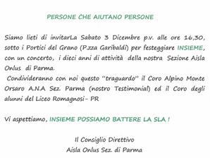 """Il nostro coro """"Monte Orsaro"""" per la AISLA, sabato 3 dicembre in piazza."""
