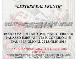 """""""Lettere dal Fronte"""" a Palazzo Imbriani a Borgo val di Taro"""