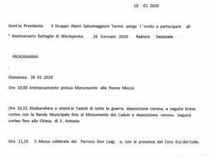 Domenica 26 gennaio si ricorda Nikolajewka a Salsomaggiore