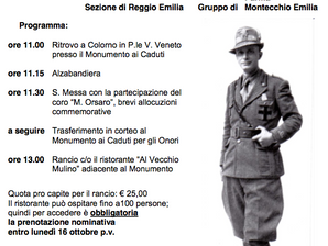 Commemorazione di Don Carlo  Gnocchi a Colorno