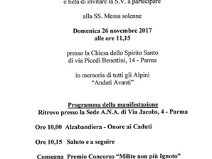 Messa del 96° di Fondazione della Sezione di Parma