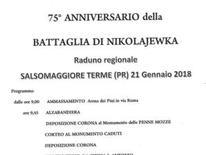 75° ANNIVERSARIO della  BATTAGLIA DI NIKOLAJEWKA a Salsomaggiore Terme