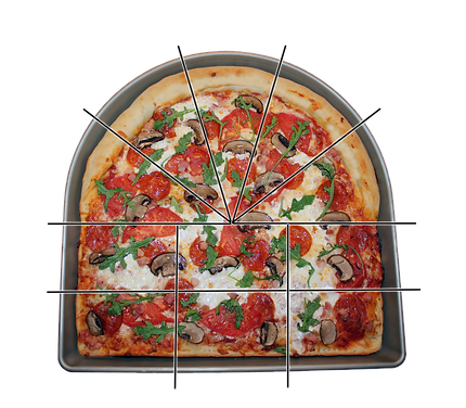 Pan Duo® The Half Round & Half Square Pizza Pan