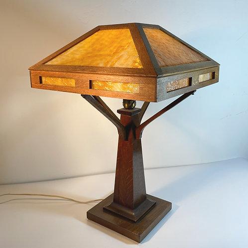 Arts & Crafts Mission Oak Table Lamp / SOLD