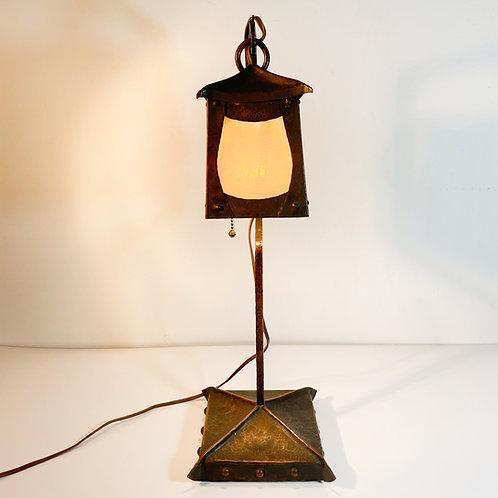 Arts & Crafts Hammered Copper Lamp