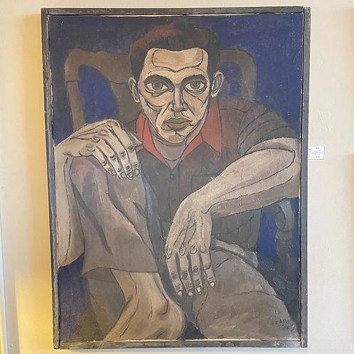 N. Canedy Oil on Canvas - Man