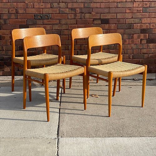 Niels Otto Moller by J.L. Moller Set of 4  dining chairs