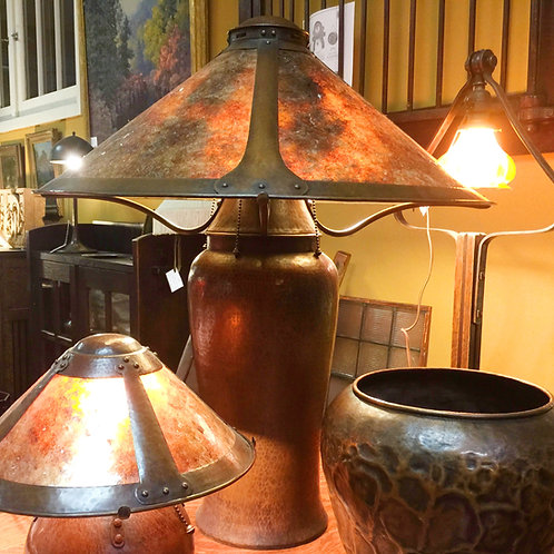 """Dirk Van Erp """"Milkcan"""" Copper Lamp"""
