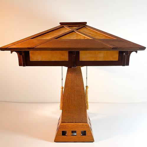 Mission Oak Prairie Lamp