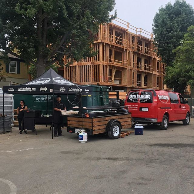 The Santa Maria BBQ Crew just getting started in Westchester CA