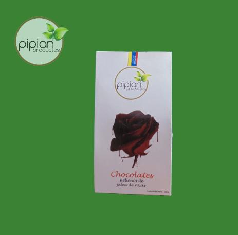 Rosas con chocolate