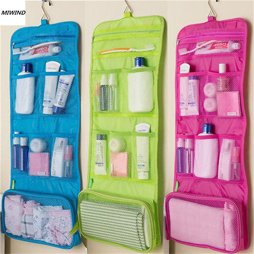 Hanging Travel Toiletry Bag Polyester Case