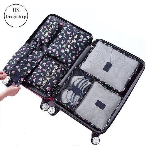 7Pcs/Set Luggage Travel Packing Cube Organizer Bag Accessories