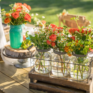 3-PACK WIRED VASES  This set can look as industrial as you want or even as elegant as you want. The flower choices really change the look!  Dimensions:  Qty: 1