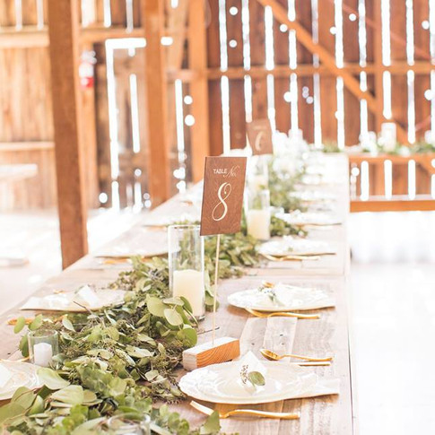 "RUSTIC TABLE NUMBERS  These table numbers are made of plywood, stained a dark walnut and painted using a vinyl stencil.  Dimensions: 12""  Qty: 1-14"