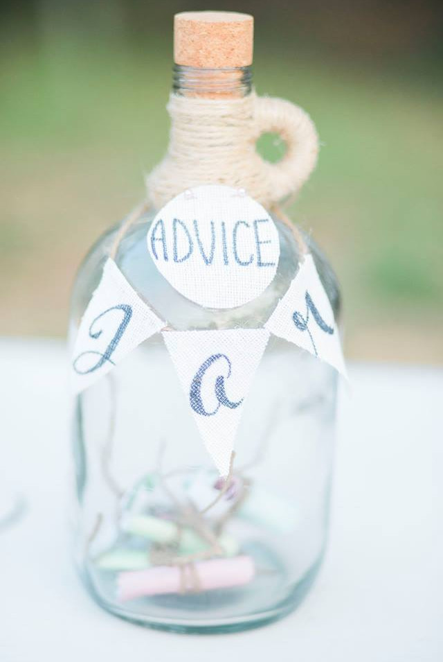 ADVICE JAR  You may use it as just that, or a honeymoon fund. Use your imagination with this gorgeous jar.  Dimensions:  Qty: 1