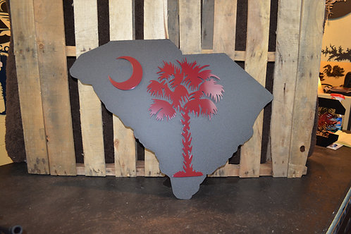 Palmetto on State Sign 3D