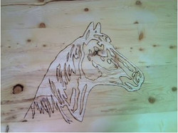 Horse-carving