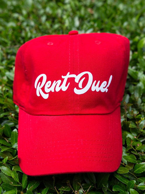 Rent Due Hat - Red/White
