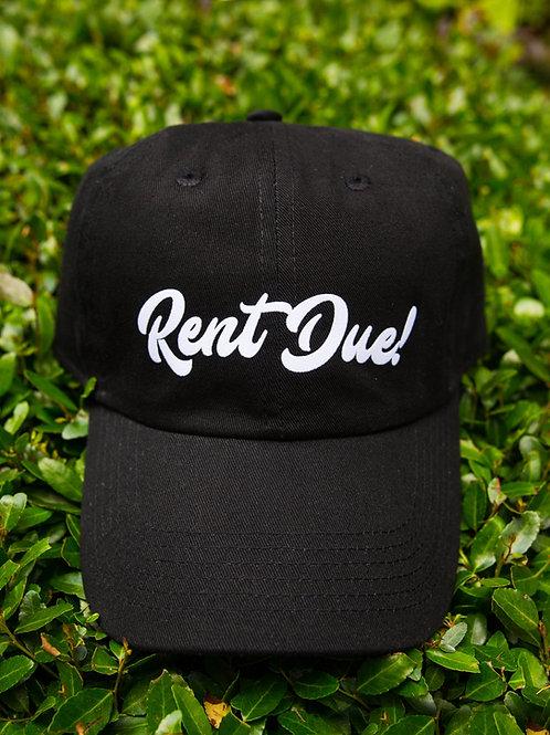Rent Due Hat - Black/White