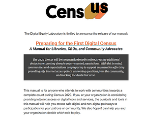 Census Preparing for the First Digital C